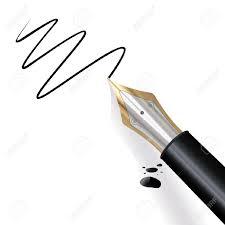 перо и бумага подпись